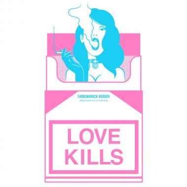 """Футболка """"Love kills"""""""